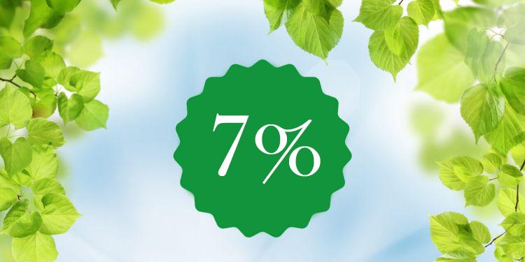 Раннее бронирование со скидкой 7 %
